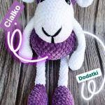 Owieczka na szydełku z miękkiej włóczki - Dol -