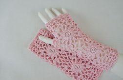 Rękawiczki, mitenki handmade różowe