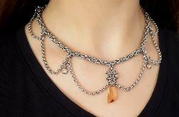 Naszyjnik chainmaille z kryształem Swarovskiego