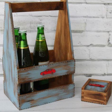 Nosidełko na piwo i pudełko na pendrivy