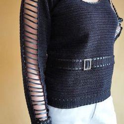 Bluzka HAND MADE czarna