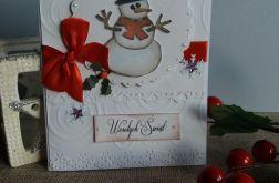Bożonarodzeniowe życzenia z bałwankiem