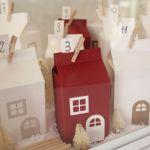 Kalendarz adwentowy - świąteczna wioska - zbliżenie