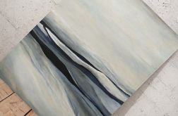 Abstrakcja w szarościach - obraz akrylowy