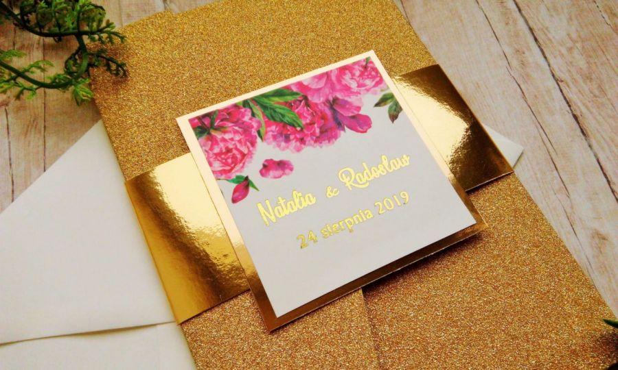 Zaproszenia na ślub w folderze glamour 03