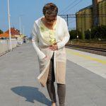 Sweter damski tricolor - Trzykolorowy