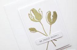 Kartka NA ŚLUB - zielone kwiaty
