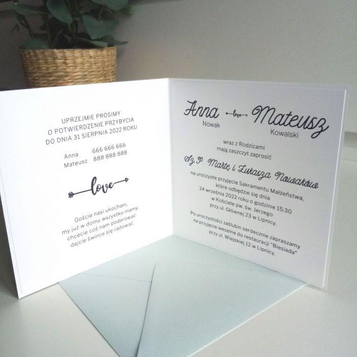 Zaproszenie ślubne z przepięknym wiankiem - róże04