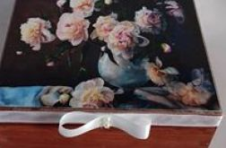 """Pudełko na drobiazgi """"kwiaty w wazonie"""""""