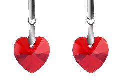 Czerwone serducha- kryształy Swarovskiego