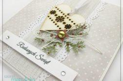 Kartka świąteczna z sercem 2