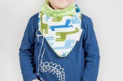Apaszka, chustka dla dziecka minky - zielone żyrafy