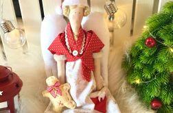 Lalka świąteczna anioł tilda