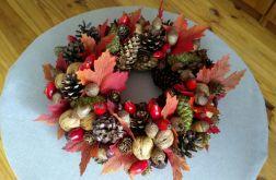 Wianek Dekoracja Jesienna stroik