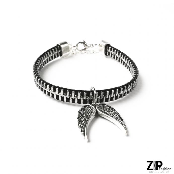 Designerska bransoletka skrzydła anioła