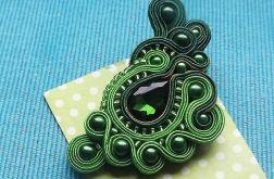 Zielona Wiosenna broszka sutasz