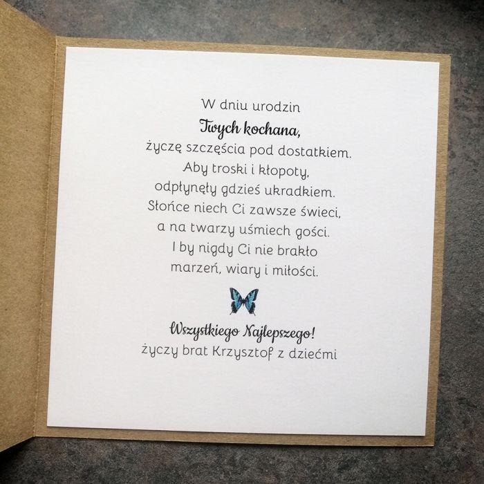 Kartka dla kobiety eko niebieska PDK 055 - Kartka dla kobiety eko niebieskie z motylkami (2)