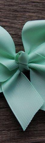 Spinka kokarda TPASTEL GREEN