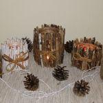 Świecznik z patyków - Świeczniki z patyków