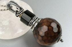 Duży srebrny wisiorek z kamieniami, srebro