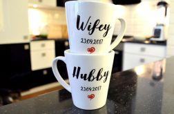 2 KUBKI ŚLUBNE LATTE WIFEY/HUBBY