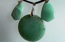 Awenturyn zielony,zestaw eleganckiej biżuteri