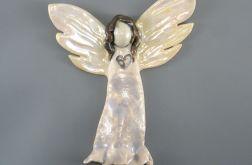 Dekoracja ścienna, Aniołek ceramiczny