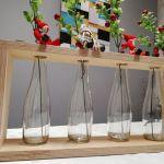 Szkło w sklejce, nowoczesny wazon na 4 kwiaty