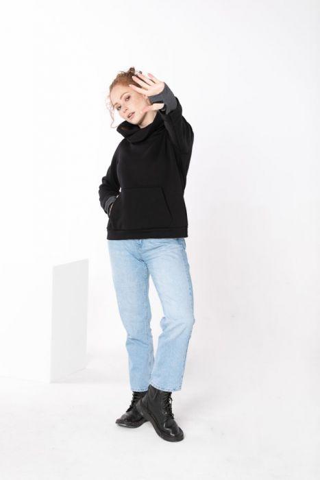 Bluza damska bez zamka - Wejście na kciuk
