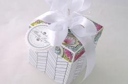Pudełko na ślub Witraż Biały