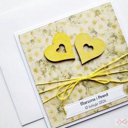 Kartka ŚLUBNA z dwoma sercami