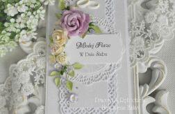 Ślubna kartka DL w pudełku z okienkiem 36