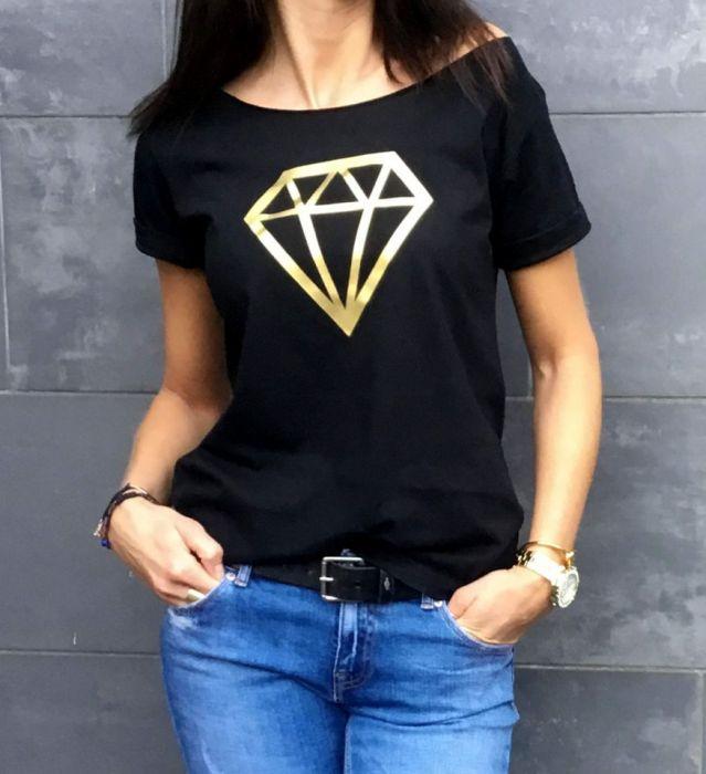 """t-shirt luźny """"DIAMENT"""""""