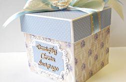 Pudełko, kartka Pamiątka Chrztu Świętego