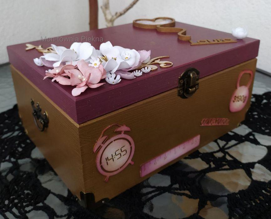 Pudełko skrzynka na zdjęcia drobiazgi v2
