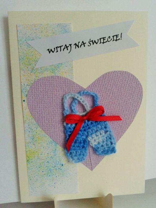 Kartka  z okazji narodzin dla  chłopca - kartka z okazji narodzin chłopczyka