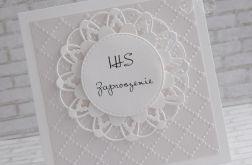 Zaproszenie IHS - perłowe