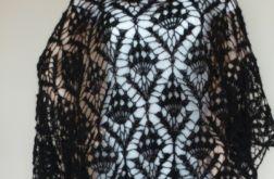 Czarna moherowa chusta