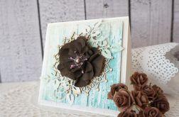 Kartka z dużym foamirowym kwiatem