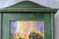 szafka na klucze ze słonecznikami