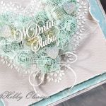 Ślubne serce turkusowe - Ślubne serce turkusowe - detal II