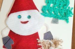 Kartka świąteczna z Mikołajem