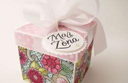 Pudełko na ślub Witraż Róż