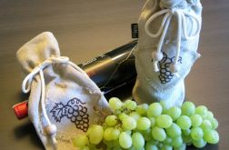 Woreczek lniany na wino