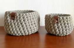 Koszyk ze sznurka bawełnianego beżowy,rozm.M