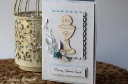 Kartka z okazji Komunii Świętej chlopiec