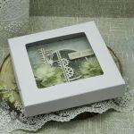 Serdeczne Życzenia- męska kartka z pudełkiem - dla niego