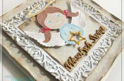 Kartka świąteczna z aniołkiem 1