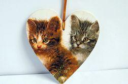 Serce z kotkami