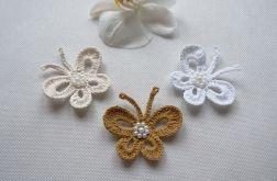 Motyle szydełkowe komplet - model 1